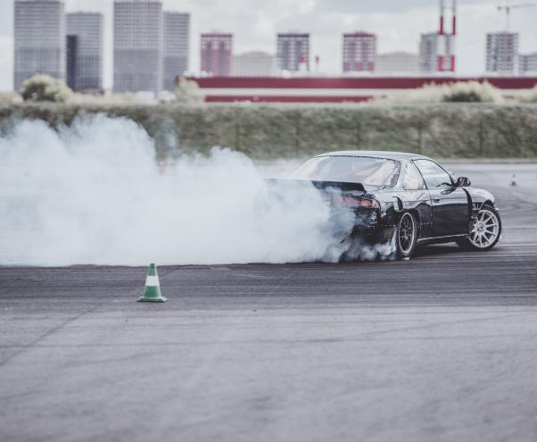 car and smoke